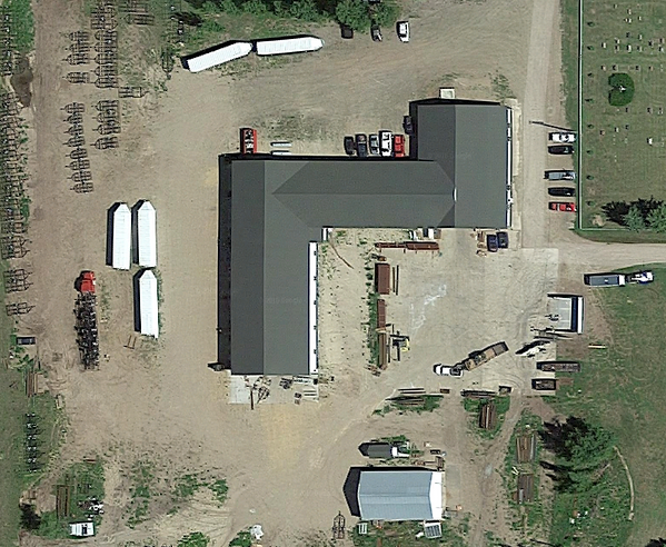 Aerial view of CW Welding & Fabrication