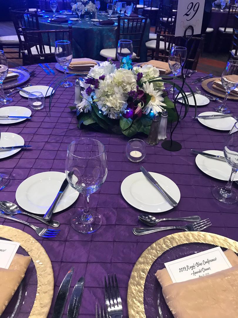 Awards Dinner tablescape