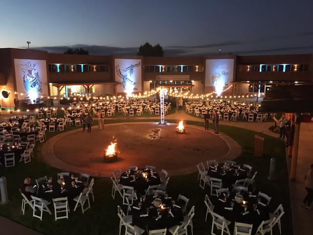 Outdoor corporate dinner
