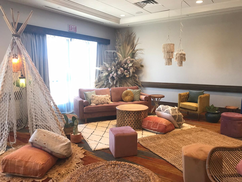 Bohemian Indoor seating area