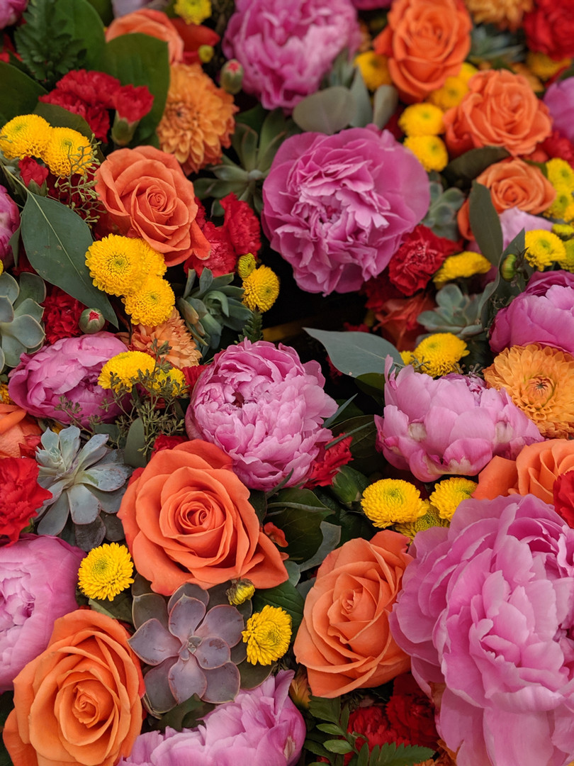 Floral arrangement close up