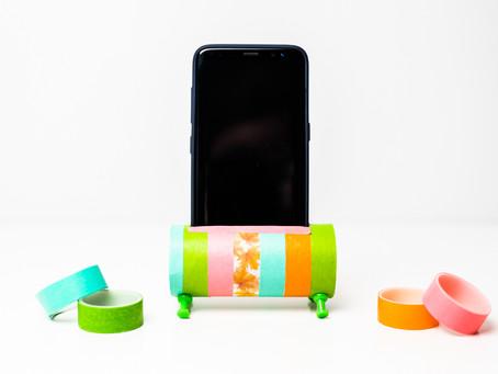 DIY- Handyhalterung - Bastelidee aus einer Klopapierrolle