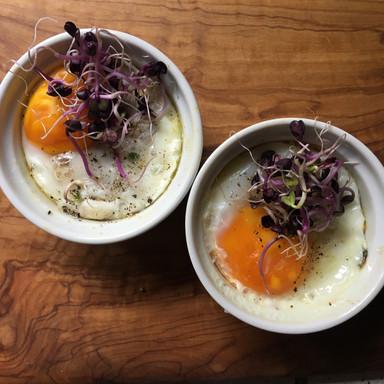 Ofen-Ei mit Lags und Sprossen