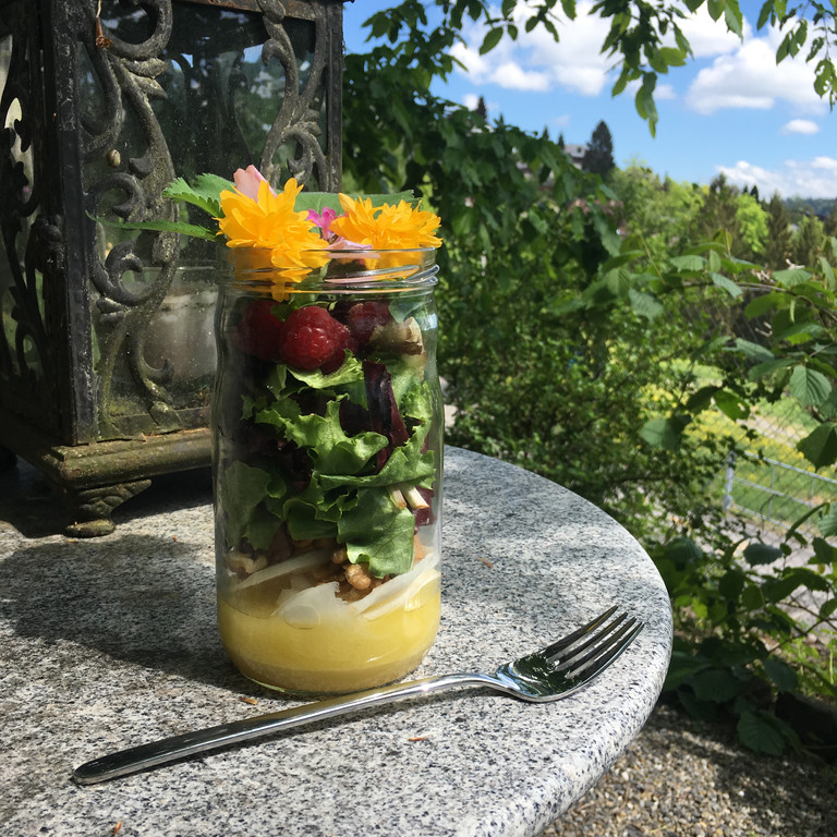 Marktsalat im Weckglas