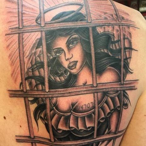 Angel In Prison Tattoo