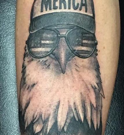 Merica Bird Tattoo