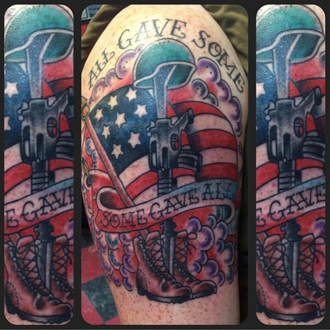 Some Gave All Flag Tattoo