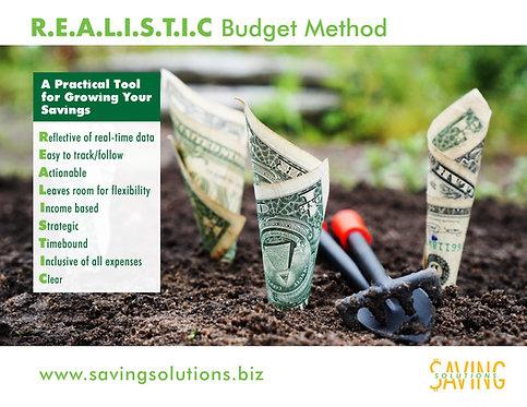 R.E.A.L.I.S.T.I.C Budget Method Tool