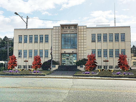 A rendering of what the Curry County Courthouse could look like after adding a mini-park to it's grounds.