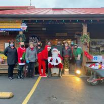 Volunteers at the Santa Drive-Through Event