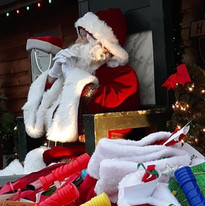Santa waiting to greet children