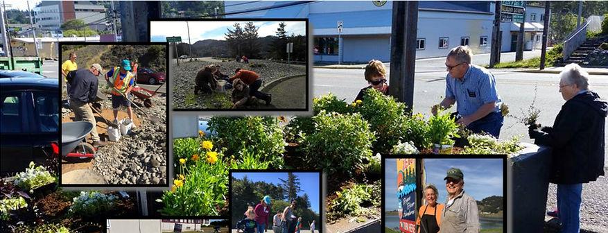 Volunteers working in the community of Gold Beach, Oregon