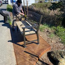 Installing the bench at Bullfrog Skate Park!