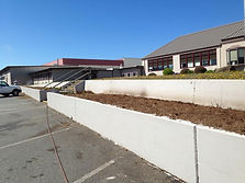 Before picture of garden beds at Gold Beach High School