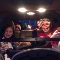 Santa stocking recipients going through the Drive-through