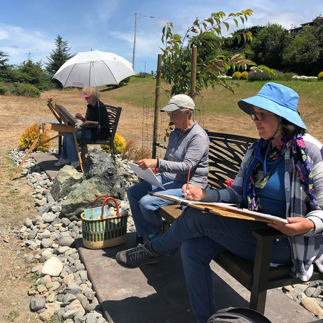 Artists Working on Port Benches