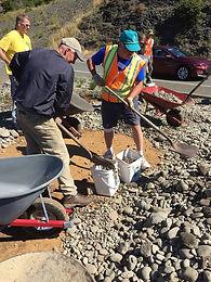 Volunteers working on the Wedderburn Triangle