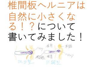 椎間板ヘルニアの退縮について書いてみました!