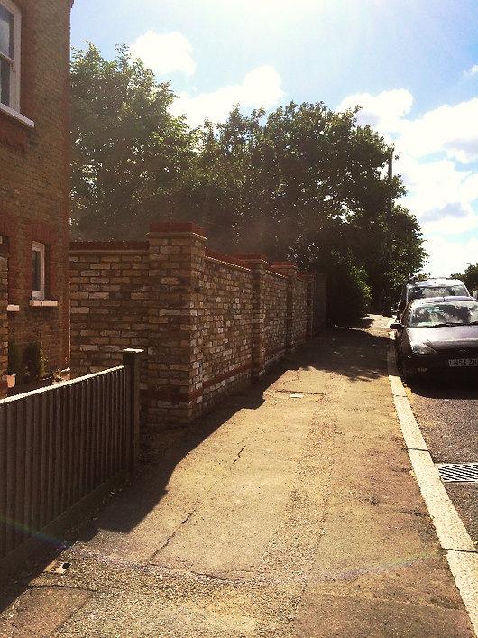 Garden wall in Norwood South London.