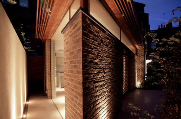 Bricks were cut by us to create the shape for the architects design.