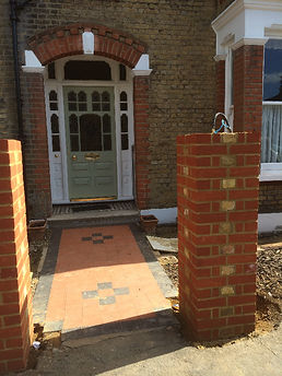 Brick piers built in Norwood South London.