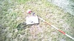 sprzęt geodety w promieniach słońca