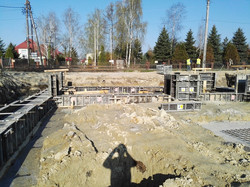 Tyczenie obiektów budowlanych, prace fundamentowe