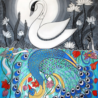 SWAN AND THE PEACOCK