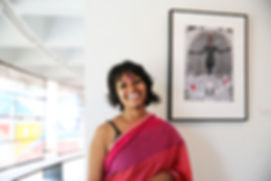 Aparajita Barai during her exhibition in Kala Kendra