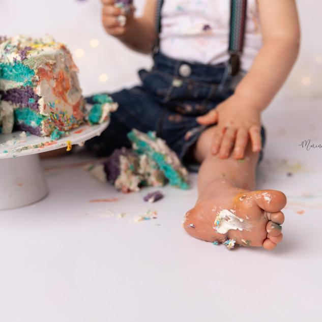 Photographe Maternité, Grossesse, Nouveau né, Naissance, Bébé, Enfant, Maman, Famille, Auterive (31) | Muret, Toulouse et sa région | Séance photo anniversaire Smash the Cake Rainbow Cake Colorful