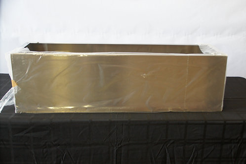 """42""""W x 12""""D x 12""""T SS Island Duct Cover"""