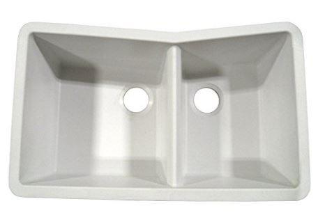 60/40 Granite Double Bowl Undermount Sink   White | Luxury Appliances  Seattle | Bellevue | Canada | Luwa Luxury Products