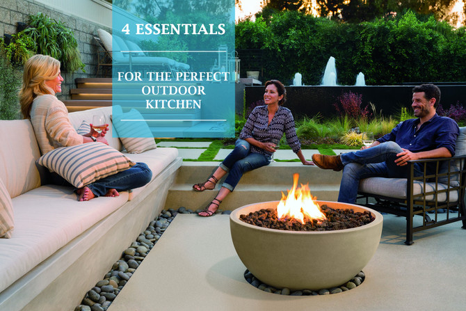 4 ESSENTIALS FOR THE PERFECT OUTDOOR KITCHEN