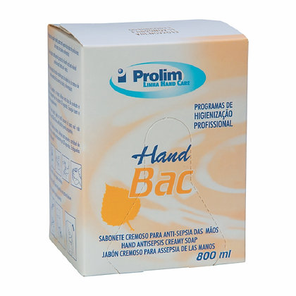 REFIL SABONETE 800 ML PROLIM HAND BAC (VÁLVULA COLMÉIA)