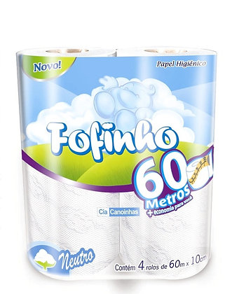 PAPEL HIGIÊNICO ROLINHO FOFINHO FOLHA SIMPLES 64X60MT