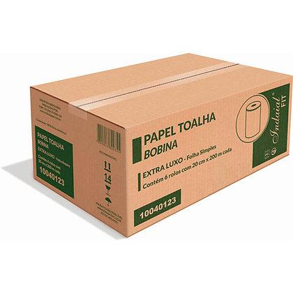 PAPEL TOALHA BOBINA INDAIAL FIT 6 X 200MT