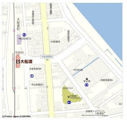 旧大船渡駅周辺