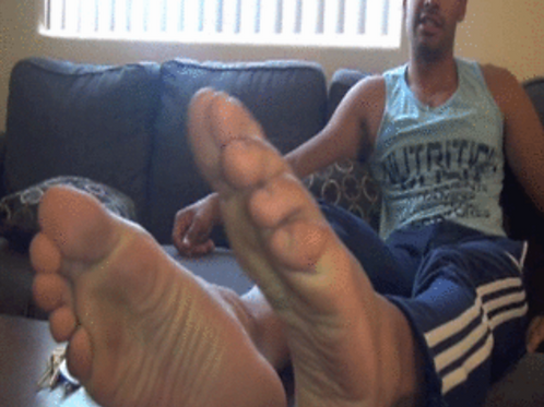 Emilio's Big Foot Tease