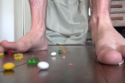 Adam's Unaware Foot Crush & Candy Vore