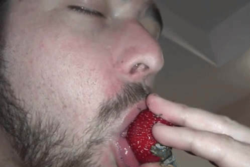 Hunter Eats Strawberries & Best Friend