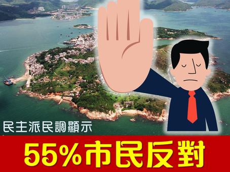 民主派民調顯示:過半受訪者反對「明日大嶼」計劃