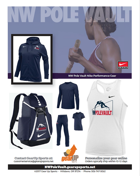 NW Pole Vault uniforms & gear