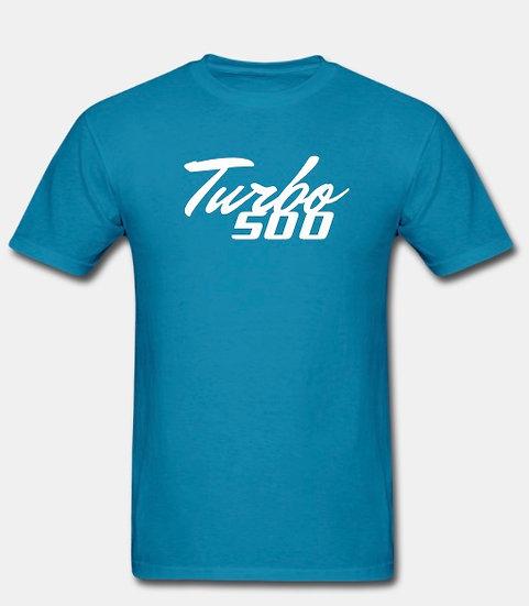Turbo 500 turquoise & white tornado