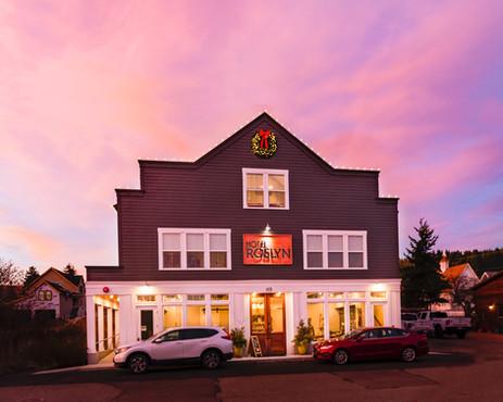 Sunset at Hotel Roslyn, Washington