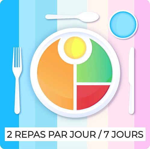 Programme anti-kilos 1 semaine SEMI-complète, petits déjeuners + dîners