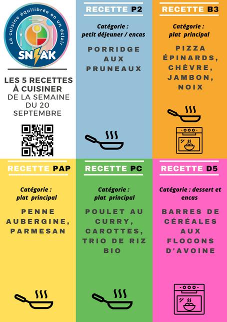 KIT prêt-à-cuisiner SN-AK 5 nouvelles recettes (semaine du 20 septembre)