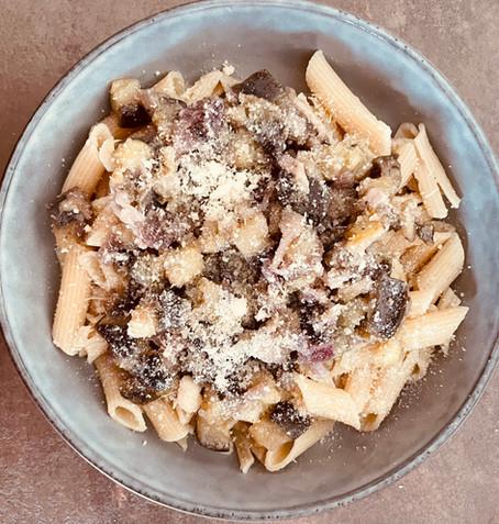 Penne aubergines et parmesan recette SN-AK