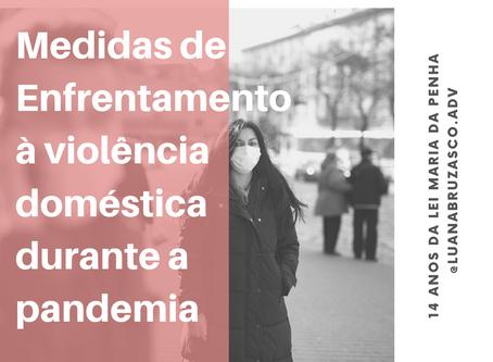 Medidas de Enfrentamento à violência doméstica durante a pandemia