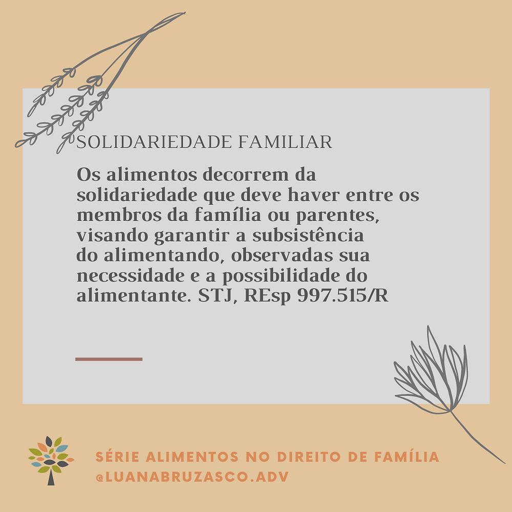 alimentos no Direito de Família