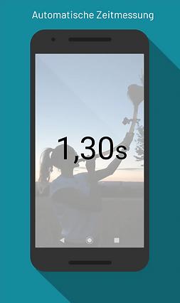 Mockup Zeitmessung per DRYNK fast App